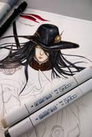 Sketch: Vampire Hunter D FA - XXIX by Hallowie29