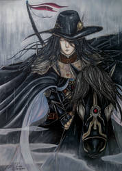 Vampire Hunter D Fan Art - Cold Rain by Hallowie29
