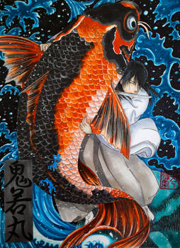 Chapter XCIV - Oniwakamaru and the Giant Carp