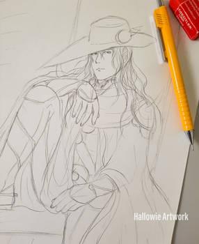 Sketch: Vampire Hunter D Fanart - No. XXXIX