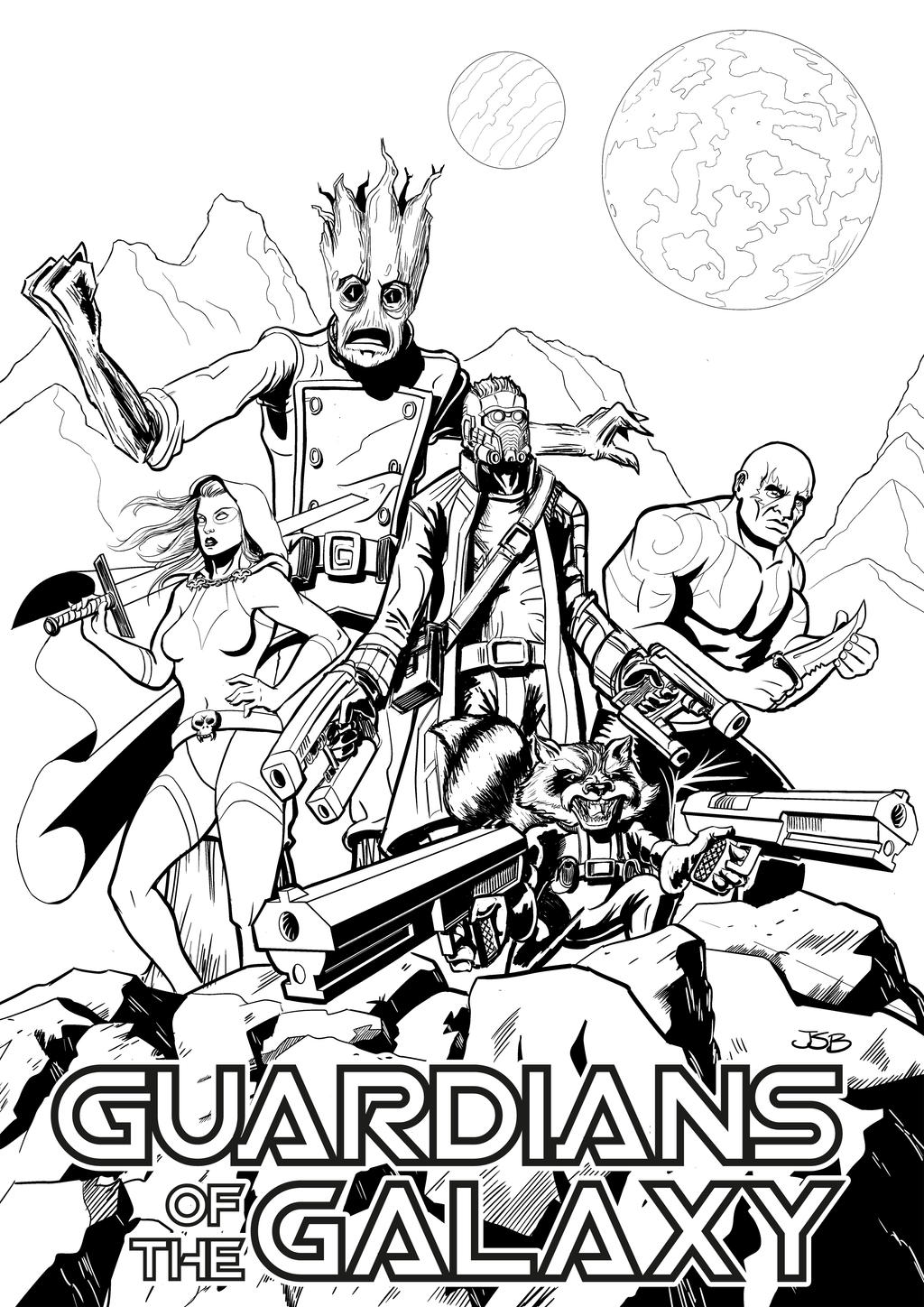 Printable coloring pages guardians of the galaxy - Colouring Pages Guardians Of The Galaxy Guardians Of The Galaxy By Sirandal On Deviantart