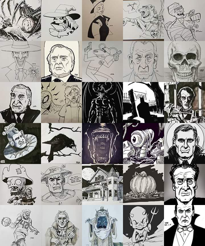 Inktober collage by sirandal