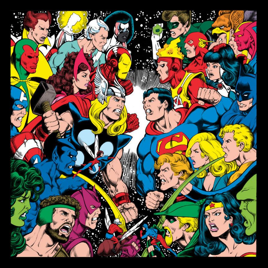 Dalgoda - Perez JLA / Avengers Recreation by sirandal