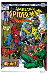 Amazing Spider-Man 124 recreation by Chris Kohler