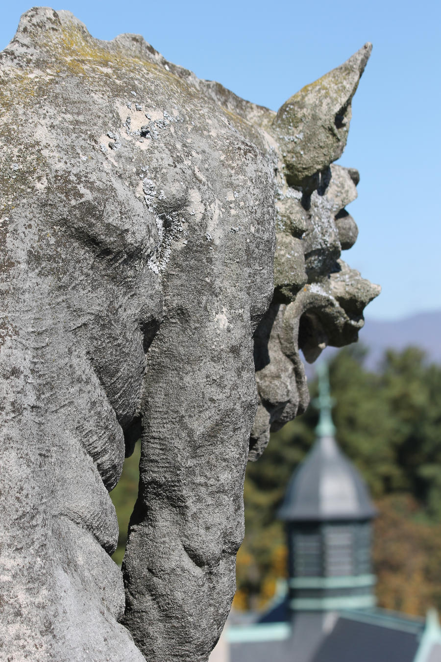 Gargoyle with view by eeyorefan