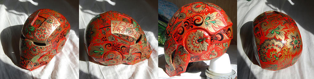 Helmet-khohloma by AcidDaisy