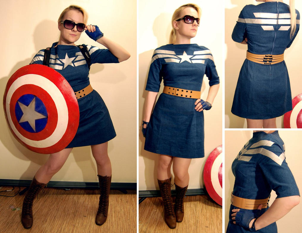 Captain America inspired dress by AcidDaisy