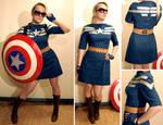 Captain America inspired dress by AcidDaisy