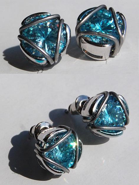 Iron Man arc reactor earrings by AcidDaisy