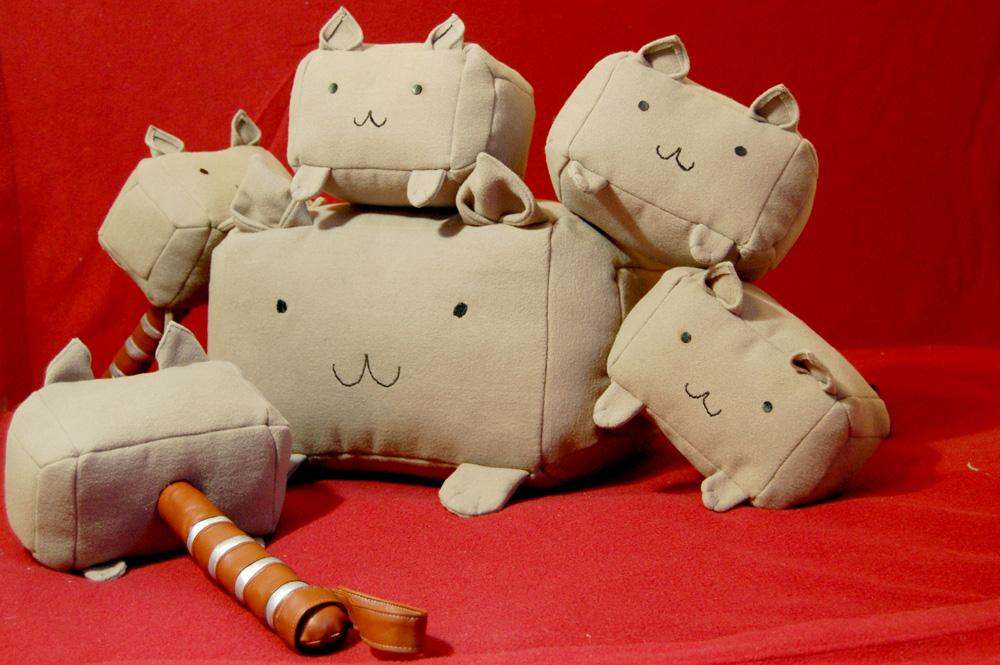 Mew-Mew-Mjolnir kittens by AcidDaisy