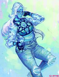 A Modish Blue Di by GLIBRIBS