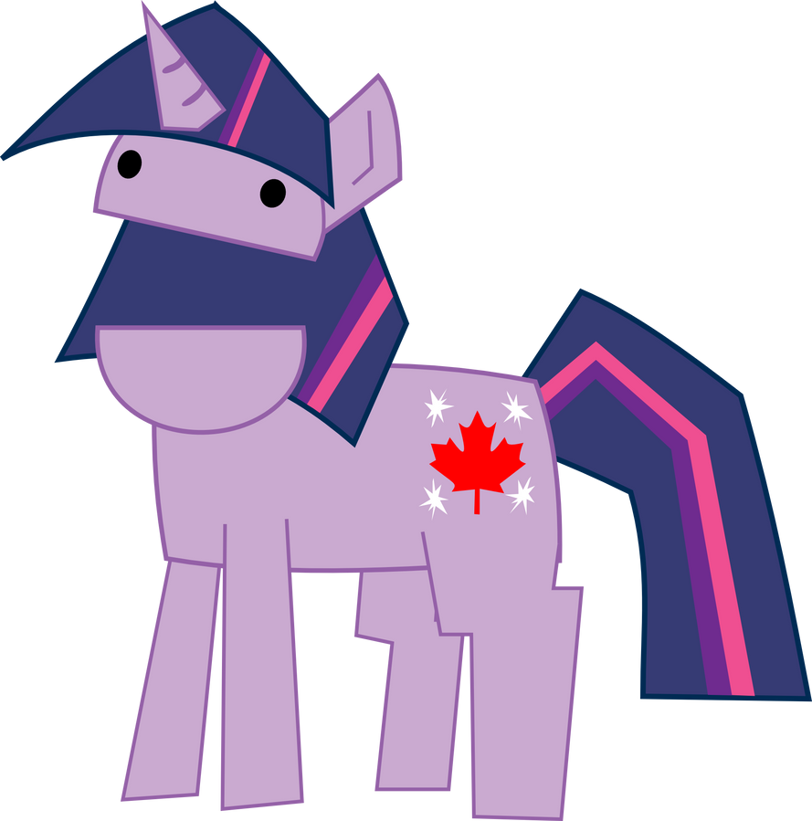 Canadian Twilight Sparkle by BakaBrony