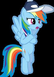 Rainbow Dash Crossed Hooves