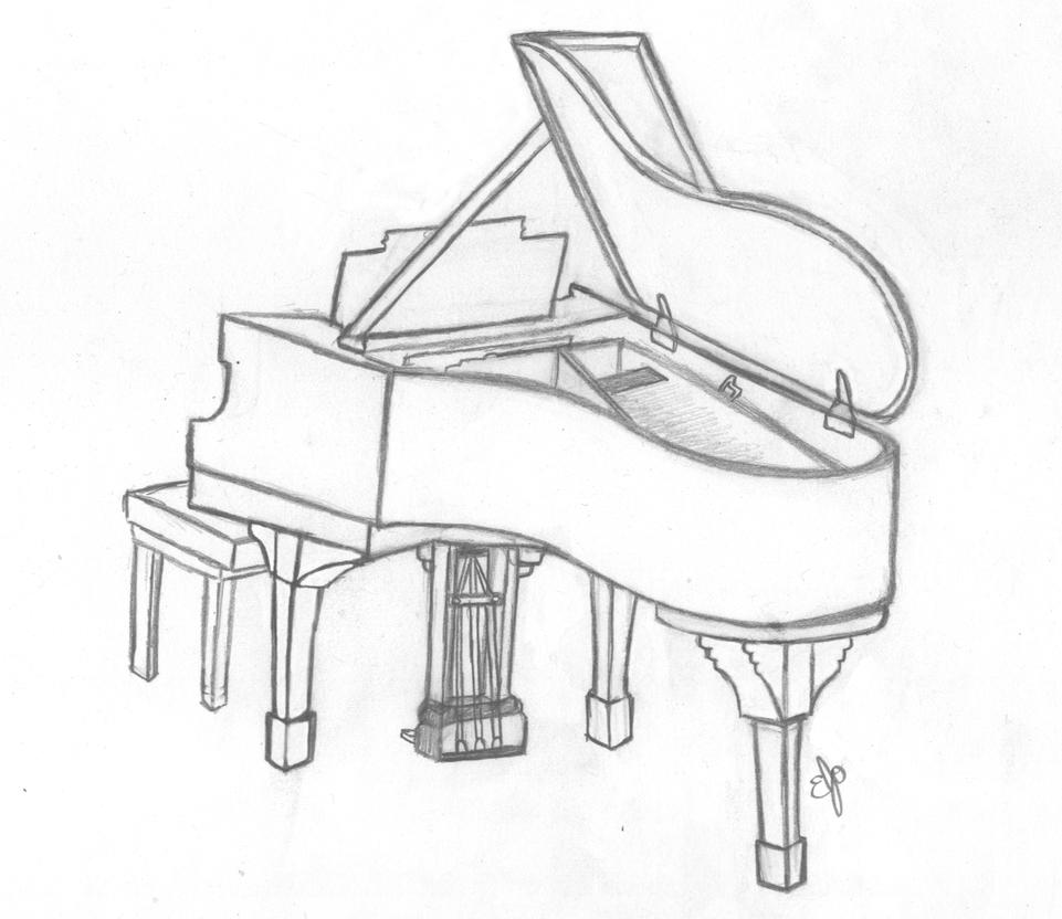 Line Drawing Keyboard : Lone piano by rainbowflaglove on deviantart