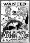 Wanted - Roronoa Zoro