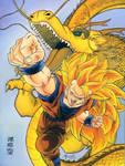Goku SSJ3 - Dragon Fist.