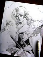 Sketching Sesshomaru by Alexinker