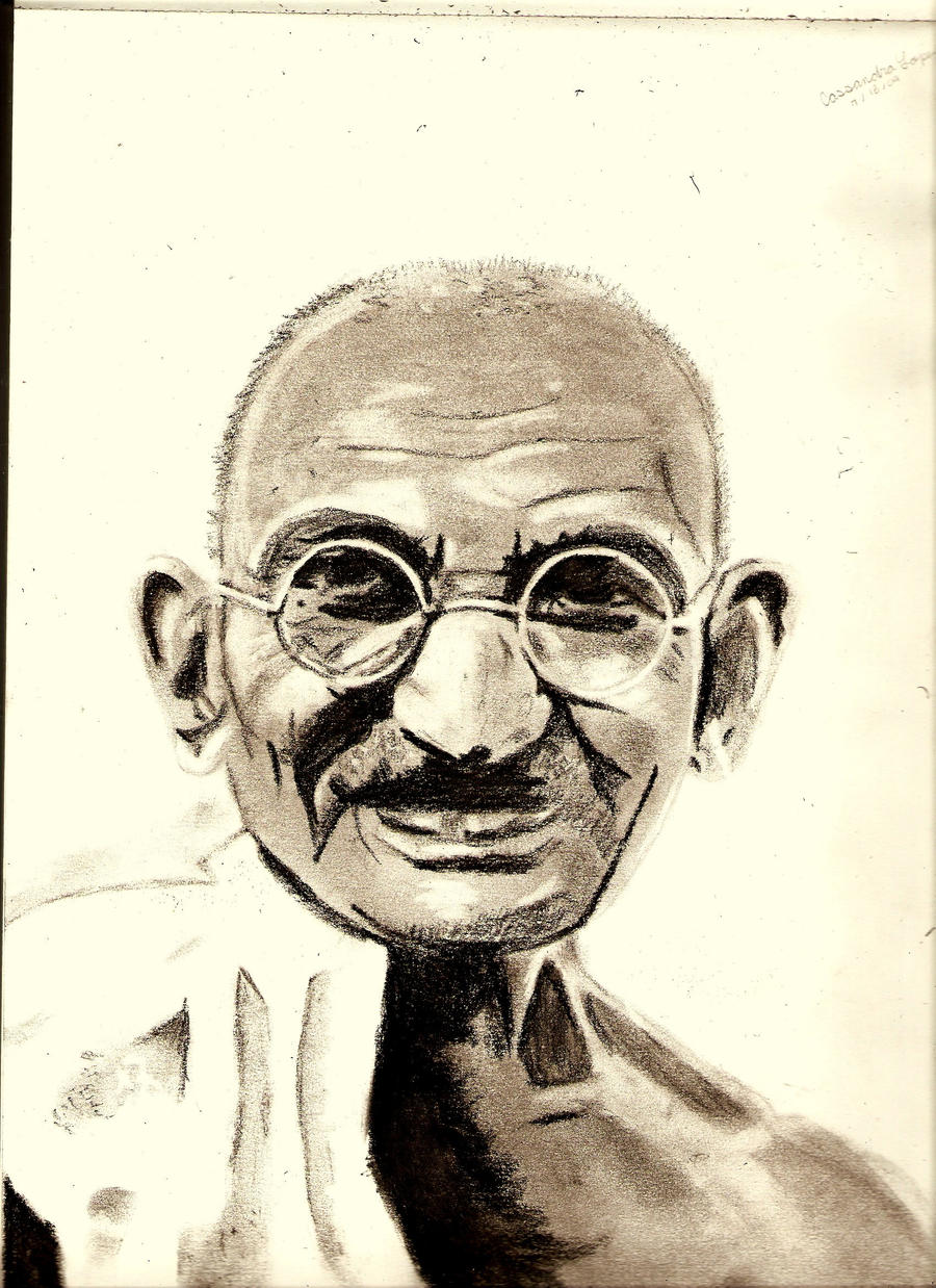 Gandhi by whore-of-troy