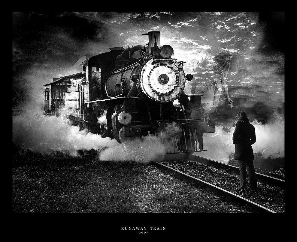 Runaway Train Black and White by Dakann on DeviantArt