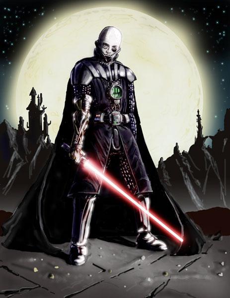 Darth Vader Unmasked by pokefreak123 on DeviantArt