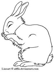 Rabbit lineart, FREE TO USE by Alffis