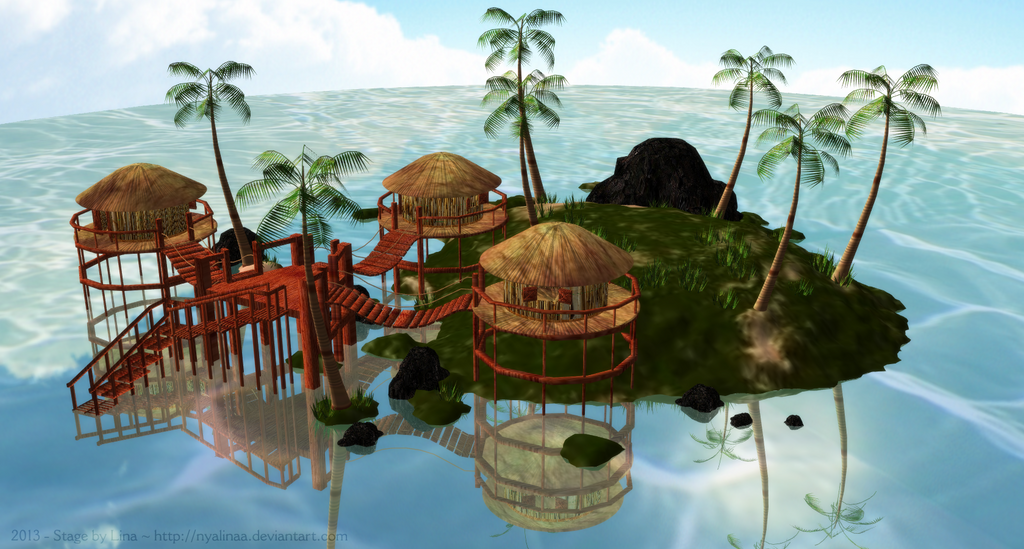 MMD Tropical Paradise Stage DOWLOAD By NyaLinaa