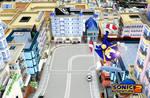 Sonic Adventure 2 Wallpaper: Escape From The City
