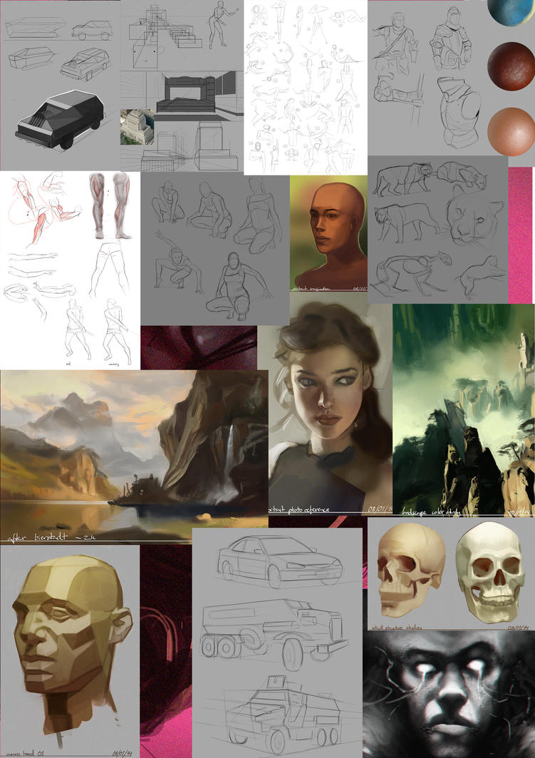 Study Sketch Dump by bemota