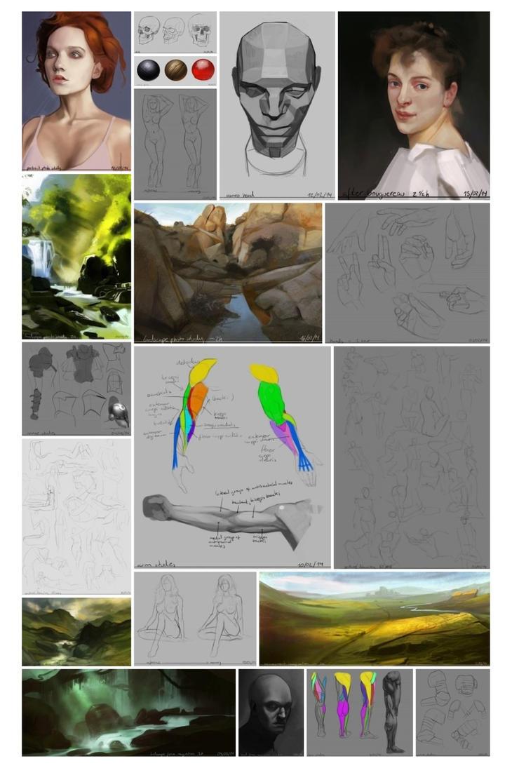 Study Sketch Dump 2 by bemota