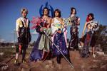 yuna tidus lulu seymour jecht cosplay group FF X by HikkiKatastrophic