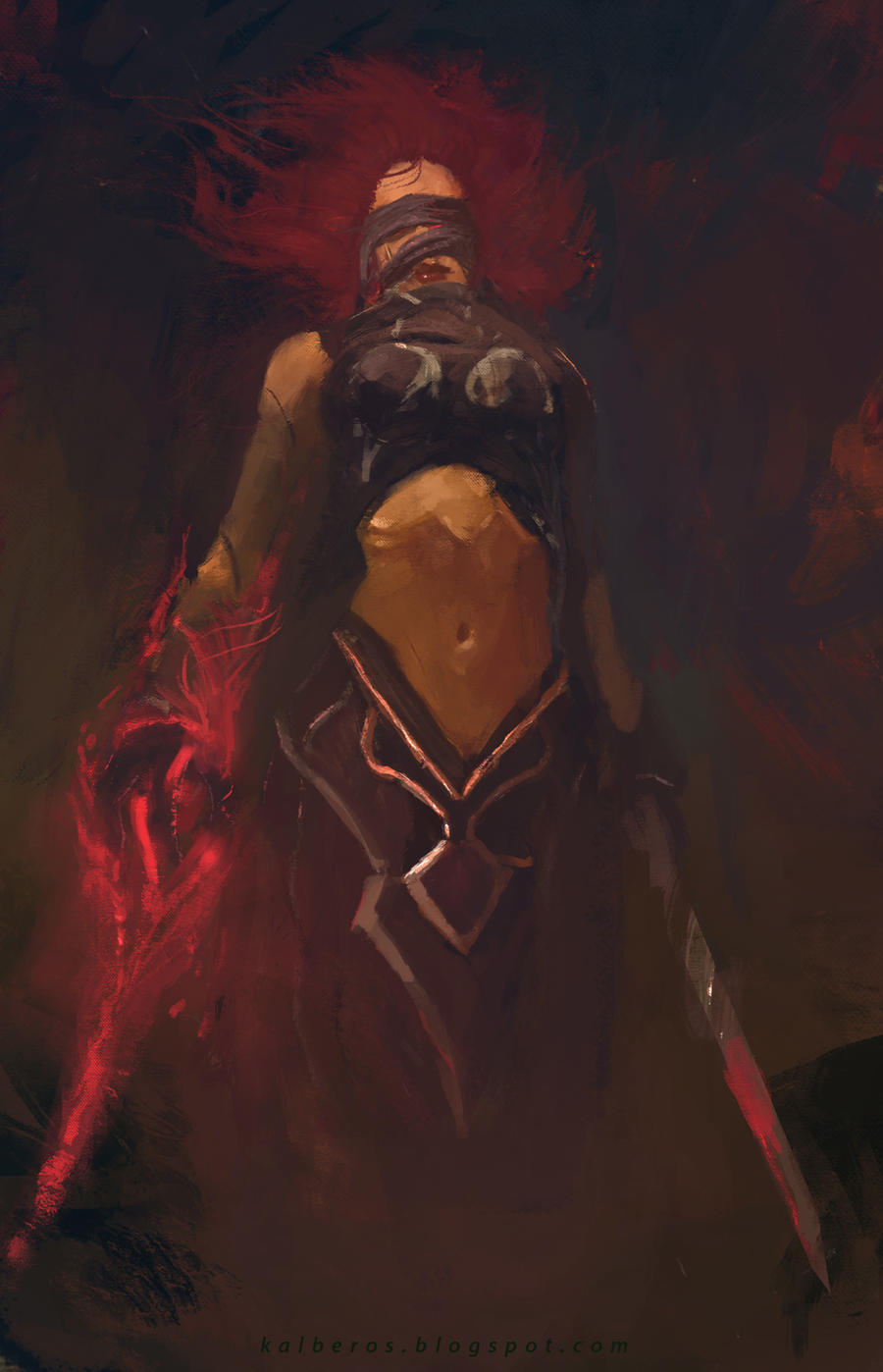 Vampire-warrior-girl sex image