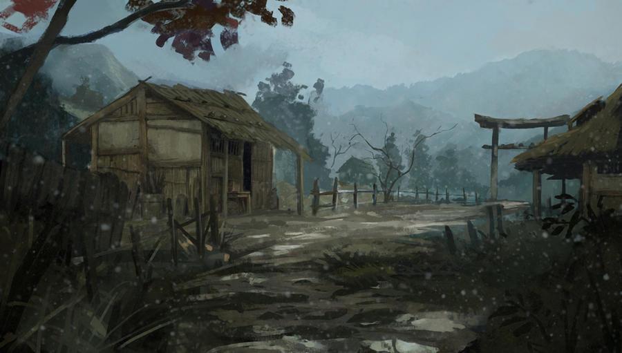 samurai village by Kalberoos
