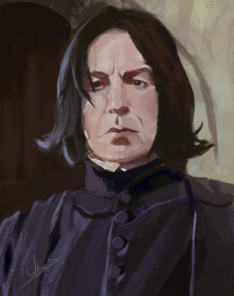Study-face-snape by Kalberoos