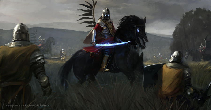 The winged black hussars by Kalberoos