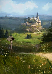 the castle on the hill by Kalberoos