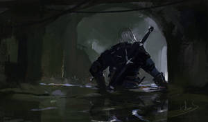 Geralt exit from the canals