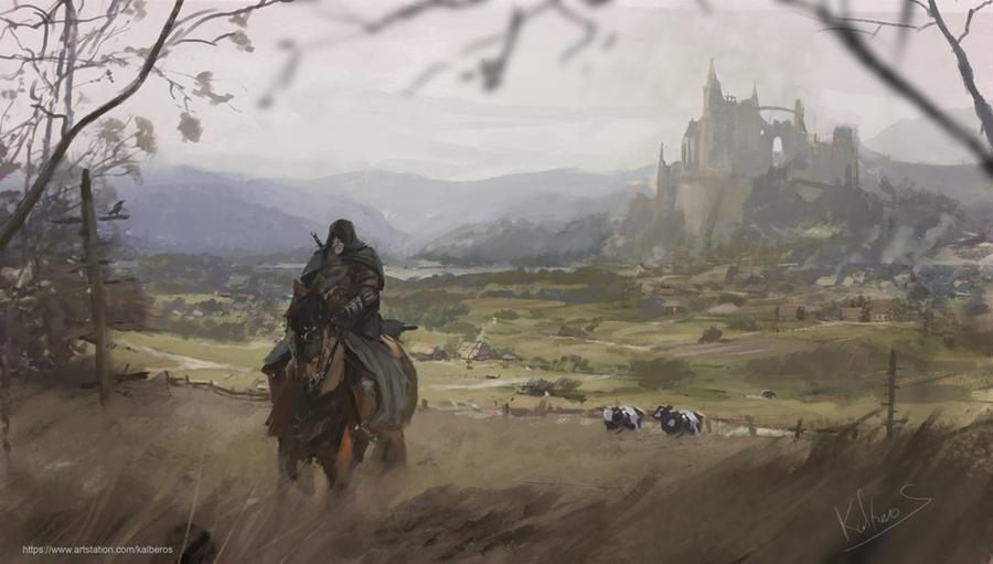castle sketch by Kalberoos