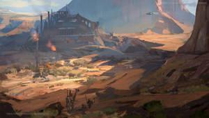 desert castle by Kalberoos
