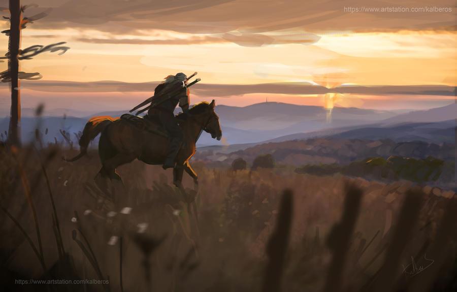 Geralt in the Beskidy by Kalberoos