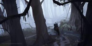 Geralt in the swamps