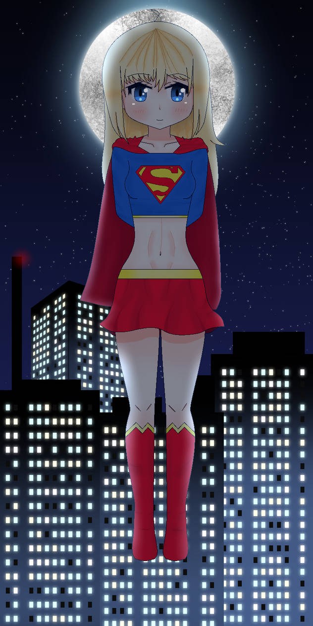 Supergirl by the moon