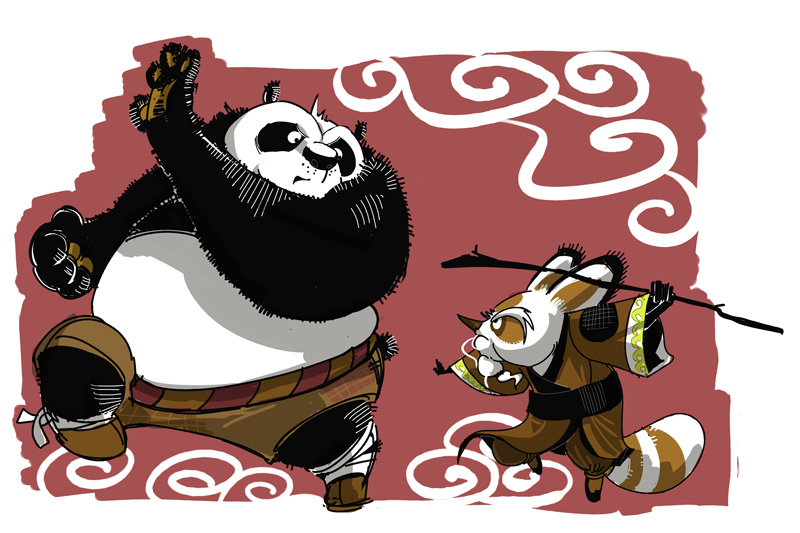 Po and Shifu by galgar... Kung Fu Panda Po And Shifu