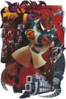 Commander Feral VS Metallikats by galgard