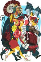 Samurai Pizza Cats by galgard