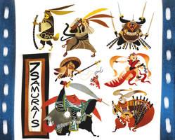 7 Samurais by galgard