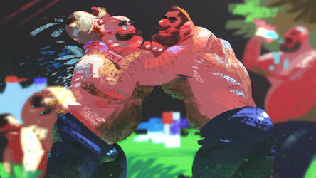 Oil Wrestling by galgard