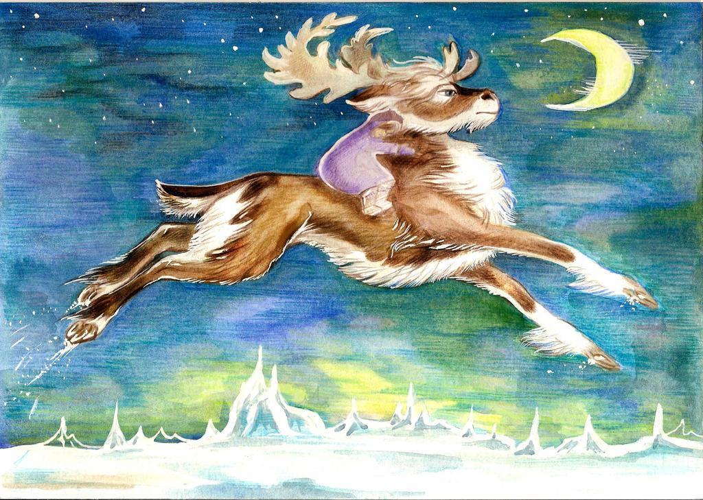 Gerda and Reindeer by Taski-Guru