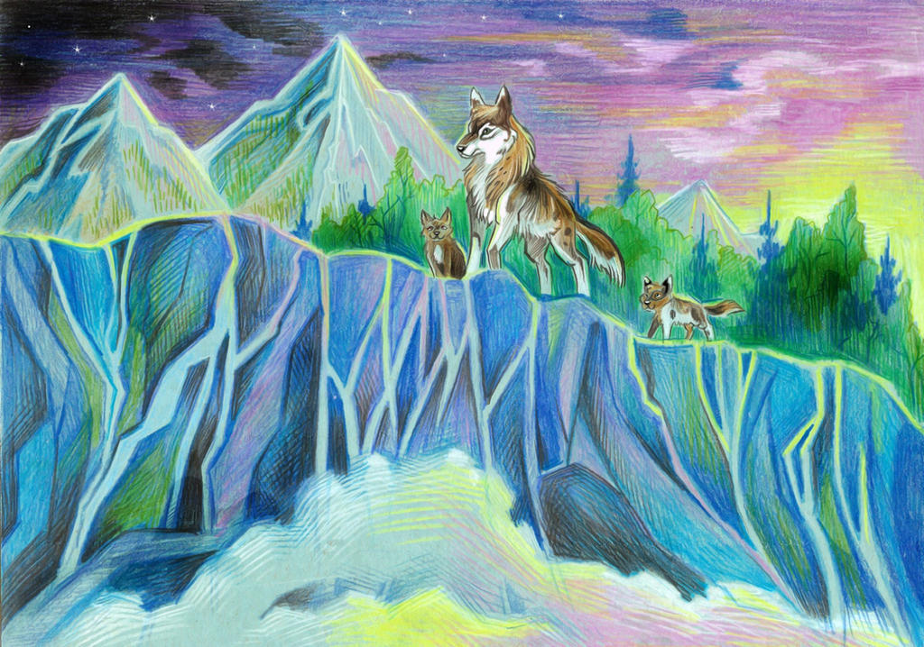 Ilgandro  and his cubs by Taski-Guru