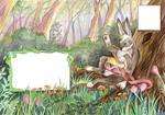 Hare with a drum by Taski-Guru