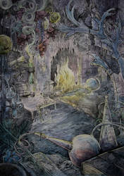 Sorcerer's laboratory by Taski-Guru